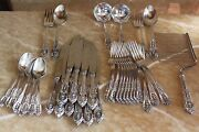 Rose Point By Wallace Sterling Silver Flatware 40 Pieces