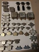 Lot Of Vintage Transmitting And Microwave Radio Parts And Components