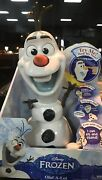 Frozen Olaf-a-lot 13 Talking Snowman Action Figure Toy Disney 50+ Phrases - New