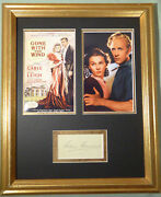 Leslie Howard Gone With The Wind Rare Vintage Signed Display Autographed W/coa