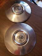 2 Vintage Ford Truck Mustang Maverick Pinto Dog Dish Poverty Hubcaps 11.5