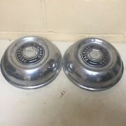 2 1951-1954 Packard Standard Hubcapsdog Dishes Poverty Caps