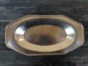Apollo Bernard Rice's Sons Hammered Silverplate Hors D'oeuvres Serving Tray Dish