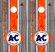 Allis Chalmers Cornhole Wraps Barnwood Boards Decals Bag Toss Game Stickers
