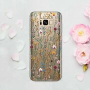 Wild Flowers Galaxy S9 Plus S10 S20 Cover Floral Samsung Note 9 20 10 Plus Case