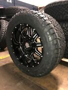 20x10 Mayhem Monstir 33 Fuel At Wheel And Tire Package 6x5.5 Chevy Suburban Tahoe