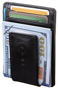 Viosi Rfid Menand039s Leather Magnetic Front Pocket Money Clip Wallet