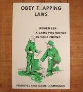 Vintage 1950s Pennsylvania Game Commission Hunting Trapping Safety Poster 3of3