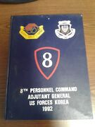 1992 Yearbook 8th Personnel Command Adjutant General Us Forces Korea