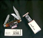 Schrade 8ot Knife Usa Old Timer Premium Stockman 4 Cl. Circa-1980's And Packaging
