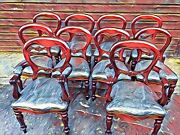 681012141618beautiful Victorian Style Balloon Back Chairs French Polished
