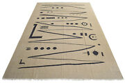 Paul Klee - Heroic Strokes Of The Bow - Inspired Handwoven Silk Rug 6andprime5andprime X 10andprime