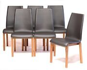 New Brown Leather Diningroom Chairs From Italy Bonaldo