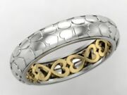 Heart Shape With Antique Heart Shape Back Plate Wedding Band 10kt Two Tone Gold