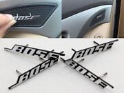 4pcs Bose Car Audio Speaker Car Stickers 3d Aluminum Badge Emblem 2pins