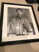 Ted Williams Signed Photo Framed Extremely Rare 625/1000