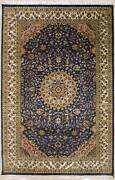 Rugstc 6x9 Senneh Pak Persian Grey Area Rug Hand-knottedfloral With Silk/wool