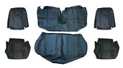 Volvo 240 Sedan Black Leather Seat Cover Upholstery Complete Set 1986-1993