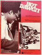 Ramsey Lewis And Earth, Wind And Fire Hot Dawgit Sheet Music-1975-rare-new