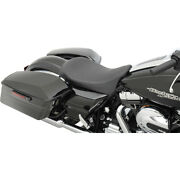 Drag Specialties Low-profile Blk Pinstripe Solo Seat For 2008-18 Harley Touring