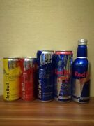 Aluminum Cans Red Bull.aluminum Bottle Red Bull.collectible Red Bull.