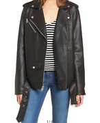 New Womens Levi's Oversized Faux Leather Motto Jacket