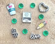Floating Charms Accountant Banker Finance Fit Origami Memory Glass Lockets 12pc