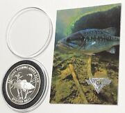 Spotted Bass N American Fishing Club 1 Troy Oz .999 Fine Silver Round Proof Coin