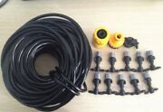1/4and039and039 Hose 5m/16and039 Misting Cooling System 5 Plastic Mist Nozzle Sprinkler