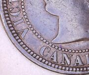 Canada 1881 H One Cent Ddo Vg Check It Out Km 7 Aa114