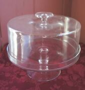 Pedestal Style Glass Cake Plate With Cover