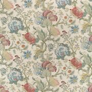 Colefax And Fowler Jacobean Tree Of Life Linen Fabric 10 Yards Rose Blue Aqua