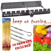 Automatic Rotating Barbecue Rotisserie Set For Gas Grills Incl. 10 Skewers