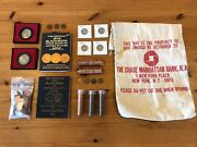 Estate Coin Collection | Mixed Coins Penny Cent Rolls Quarter Medal Bag Books 12