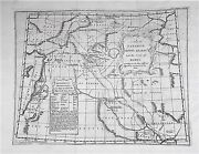 Old Antique Map Middle East Paradise Mount Ararat And Babel C1760's Engraving