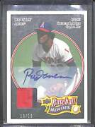 2008 Upper Deck Heroes Baseball Black Patch Autograph 103 Rod Carew No 10 Of 10