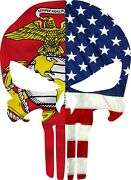 Us Marine Corp Usa Flag Punisher Exterior Window Decal Various Sizes/materials