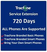 Tracfone Service Extension 2 Years 720 Days -- No Minutes All Phones Supported