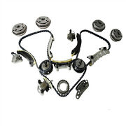 Timing Chain Kit W.4 Camshaft Cam Gears For Cadillac Cts Chevy Equinox Gmc 3.0