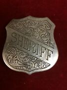 Badge Sheriff Engraved Shield Lawman Police Old West