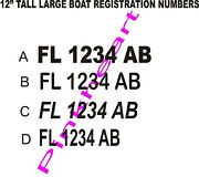 Boat Registration Numbers 12 Coast Guard Approved Any State U.s.c.g.
