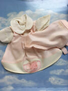 New Zapf Colette 14 Doll Clothes Pink And Cream Dress And Head Scarf German Made
