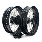 17and039and039 X 17and039and039 Mx Black Hubs Wheels Rims Set For Suzuki Drz400 00-04 Drz 400 E S Sm