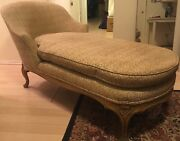 Pickup Only Vintage Antique Chaise Longue Chair Lounge French Louis Xv Style