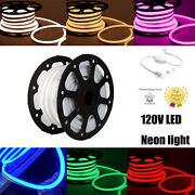 3and039 - 330and039 120v Commercial Led Neon Rope Lights Flex Tube Sign New Product