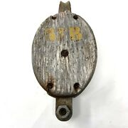 Very Attractive Large Antique Block And Tackle Pulley Traces Of Old Paint