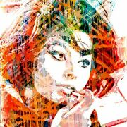 Sophia Loren And039sophiaand039 By Harry Taylor Limited Edition Print