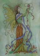 Autumn Fairy Cross Stitch - Completed Postage To Au, Us And Uk Only
