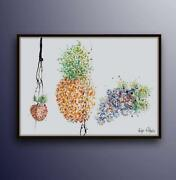 Fruit Painting 40, Food Painting For Kitchen, Pop Art, Thick Layers, Handmade