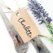 Swirly Personalised Wedding Favour Guest Name Tags Small Luggage Label Tag Party